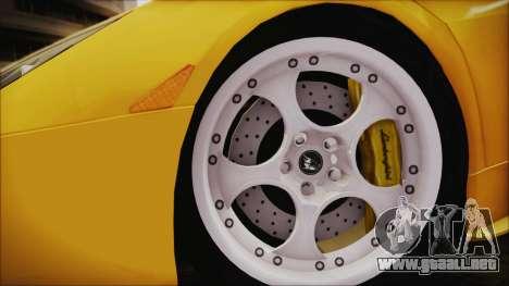 Lamborghini Murcielago 2005 Yuno Gasai IVF para GTA San Andreas vista posterior izquierda