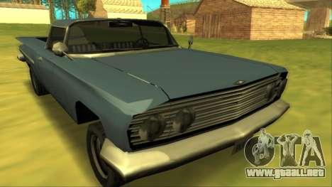 Voodoo El Camino v1 para GTA San Andreas vista hacia atrás