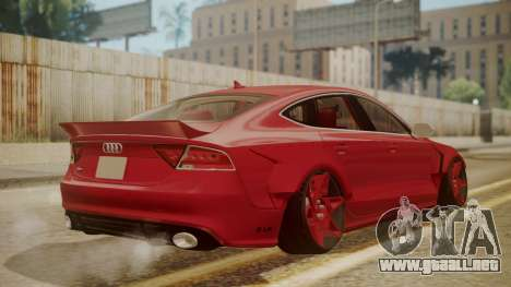Audi RS7 X-UK L3D para GTA San Andreas left