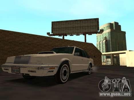 Chrysler New Yorker 1988 para vista inferior GTA San Andreas