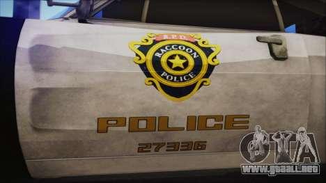Police Car R.P.D. from RE 3 Nemesis para la visión correcta GTA San Andreas