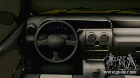 Dacia Solenza Taxi para visión interna GTA San Andreas