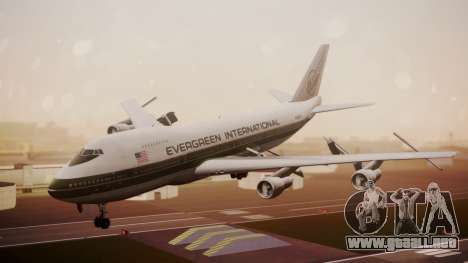 Boeing 747-200 Evergreen International Airlines para GTA San Andreas