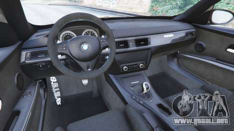 GTA 5 BMW M3 (E92) GTS v0.1 vista lateral trasera derecha
