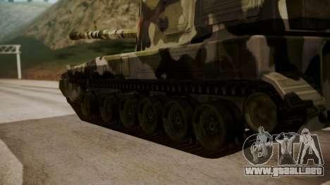 Norinco PLZ-45 155mm para GTA San Andreas vista posterior izquierda