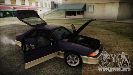 Ford Mustang Hatchback 1991 v1.2 para la visión correcta GTA San Andreas