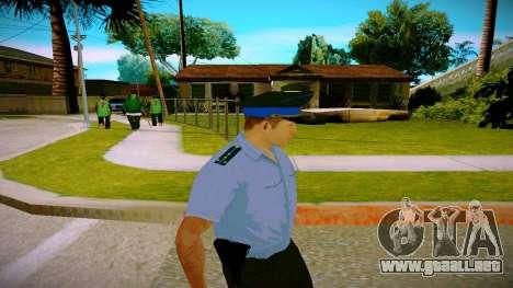 El empleado del Ministerio de Justicia v2 para GTA San Andreas tercera pantalla