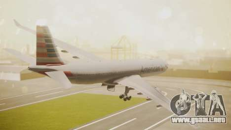 Airbus A330-300 American Airlines para GTA San Andreas left