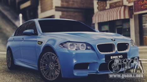 BMW M5 F10 Stock Single para GTA San Andreas left