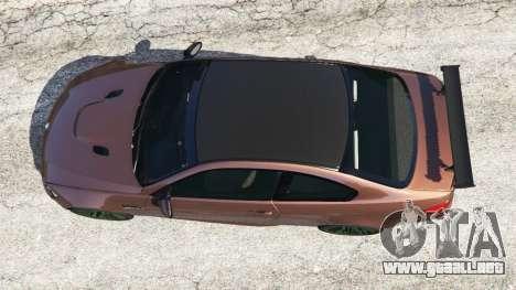 GTA 5 BMW M3 (E92) GTS v0.1 vista trasera