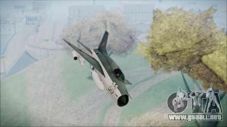 MIG-21MF URSS para la visión correcta GTA San Andreas