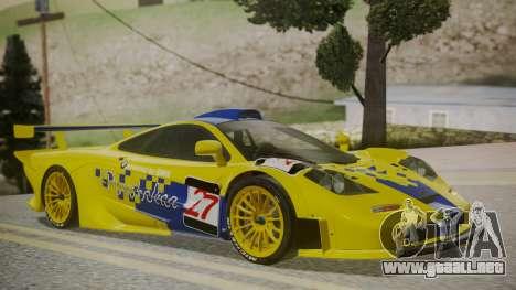 McLaren F1 GTR 1998 Parabolica para GTA San Andreas