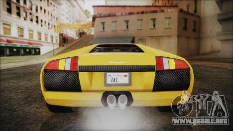 Lamborghini Murcielago 2005 Yuno Gasai IVF para vista inferior GTA San Andreas
