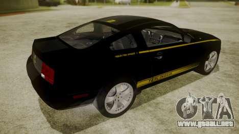 Ford Mustang Shelby Terlingua para GTA San Andreas vista posterior izquierda