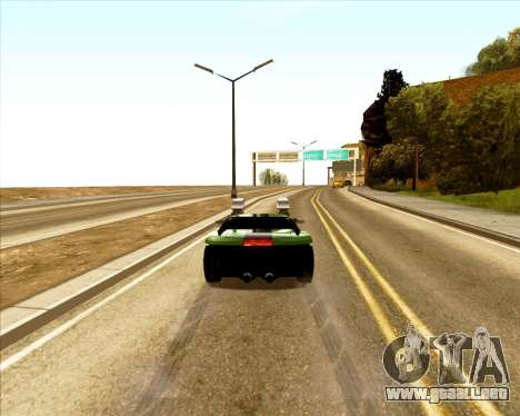 Banshee Twin Mill III Hot Wheels para GTA San Andreas vista hacia atrás