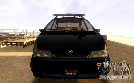 Karin Dilettante Police Car para GTA San Andreas left