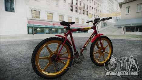 Mtbike HD para GTA San Andreas vista posterior izquierda