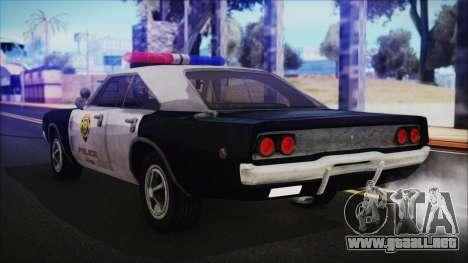 Police Car R.P.D. from RE 3 Nemesis para GTA San Andreas left
