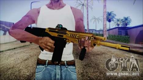 Bushmaster ACR Gold para GTA San Andreas tercera pantalla