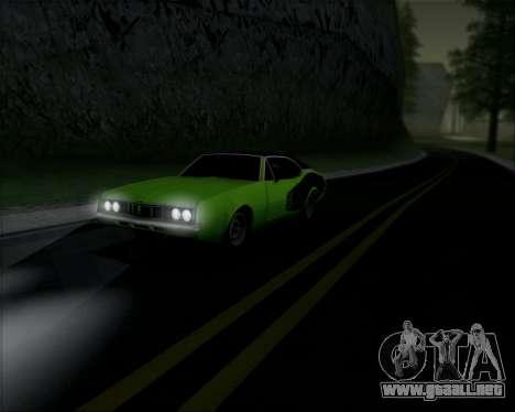 Clover Barracuda para GTA San Andreas vista posterior izquierda