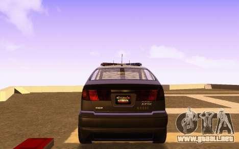 Karin Dilettante N.O.O.S.E. para GTA San Andreas vista posterior izquierda
