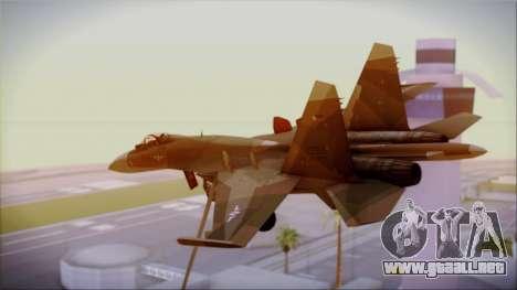 SU-27 Flanker A Philippine Air Force para GTA San Andreas left