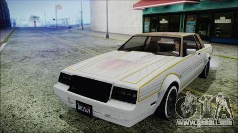 GTA 5 Willard Faction para GTA San Andreas vista hacia atrás