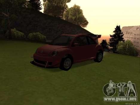 VW New Beetle 2004 Tunable para GTA San Andreas vista hacia atrás