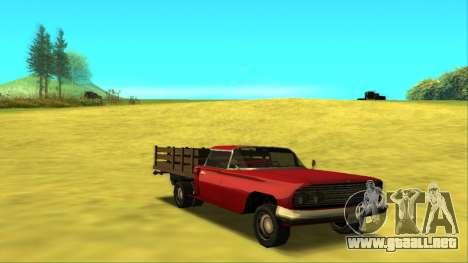Voodoo El Camino v2 (Truck) para GTA San Andreas vista hacia atrás