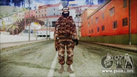 Chinese Army Desert Camo 4 para GTA San Andreas segunda pantalla