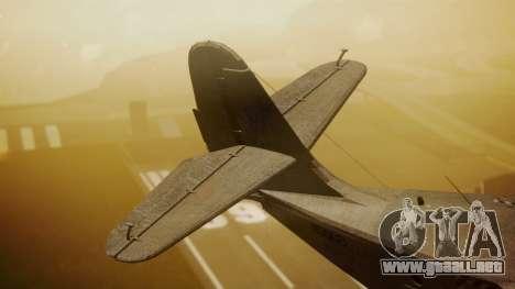 Grumman G-21 Goose N56621 Rusty para GTA San Andreas vista posterior izquierda
