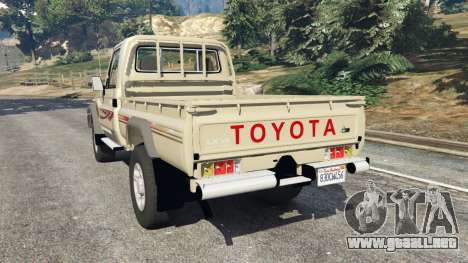Toyota Land Cruiser LX Pickup 2016 para GTA 5