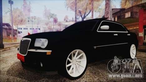 Chrysler 300С Unalturan para GTA San Andreas vista posterior izquierda