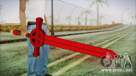 Demon Blood Sword from Adventure Time para GTA San Andreas tercera pantalla
