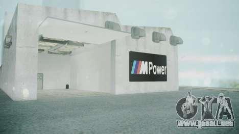 BMW Showroom para GTA San Andreas sucesivamente de pantalla