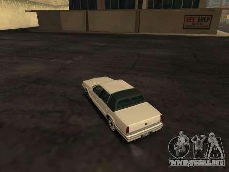 Chrysler New Yorker 1988 para GTA San Andreas vista posterior izquierda