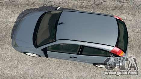 GTA 5 Ford Focus SVT Mk1 vista trasera