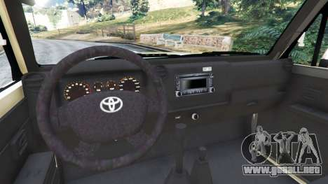 GTA 5 Toyota Land Cruiser LX Pickup 2016 vista lateral trasera derecha