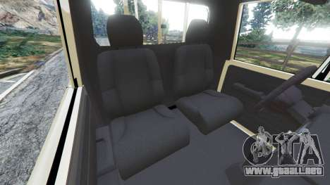 GTA 5 Toyota Land Cruiser LX Pickup 2016 vista lateral derecha