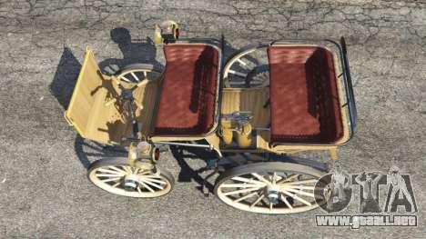 GTA 5 Daimler 1886 [wood] vista trasera