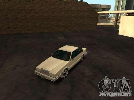 Chrysler New Yorker 1988 para vista lateral GTA San Andreas