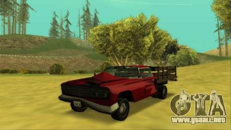 Voodoo El Camino v2 (Truck) para vista inferior GTA San Andreas