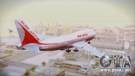 Boeing 747-437 Air India Tanjore New Skin para GTA San Andreas left