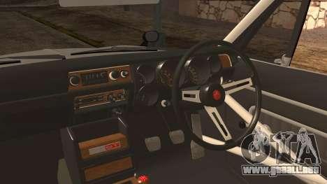 Nissan GT2000 STICKER BOMB para GTA San Andreas vista posterior izquierda