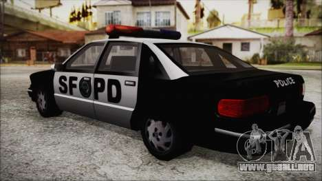 Beta SFPD Cruiser para GTA San Andreas left