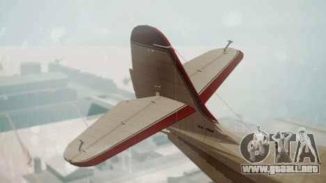 Grumman G-21 Goose VHIRM para GTA San Andreas vista posterior izquierda