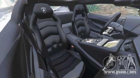 GTA 5 Lamborghini Aventador LP700-4 Police v5.5 vista lateral derecha