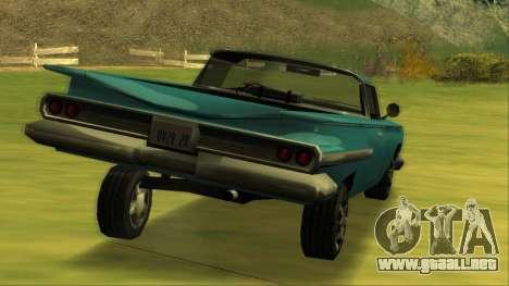 Voodoo El Camino v1 para vista inferior GTA San Andreas