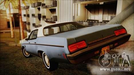 Oldsmobile Delta 88 1973 Final para GTA San Andreas left