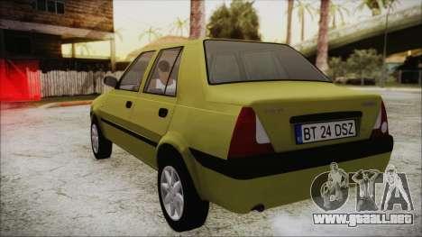 Dacia Solenza para GTA San Andreas vista posterior izquierda